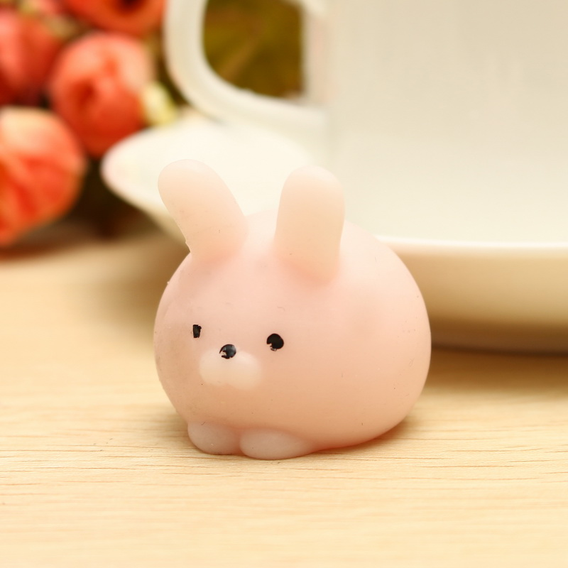 Squishy Squeeze Ball : Pink Bunny Ball Squishy Squeeze Cute Healing Toy Kawaii Collection Stress Reliever Gift Decor ...