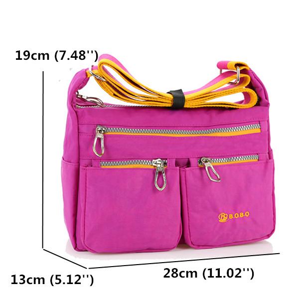 Multi Zipper Pockets Light Bag