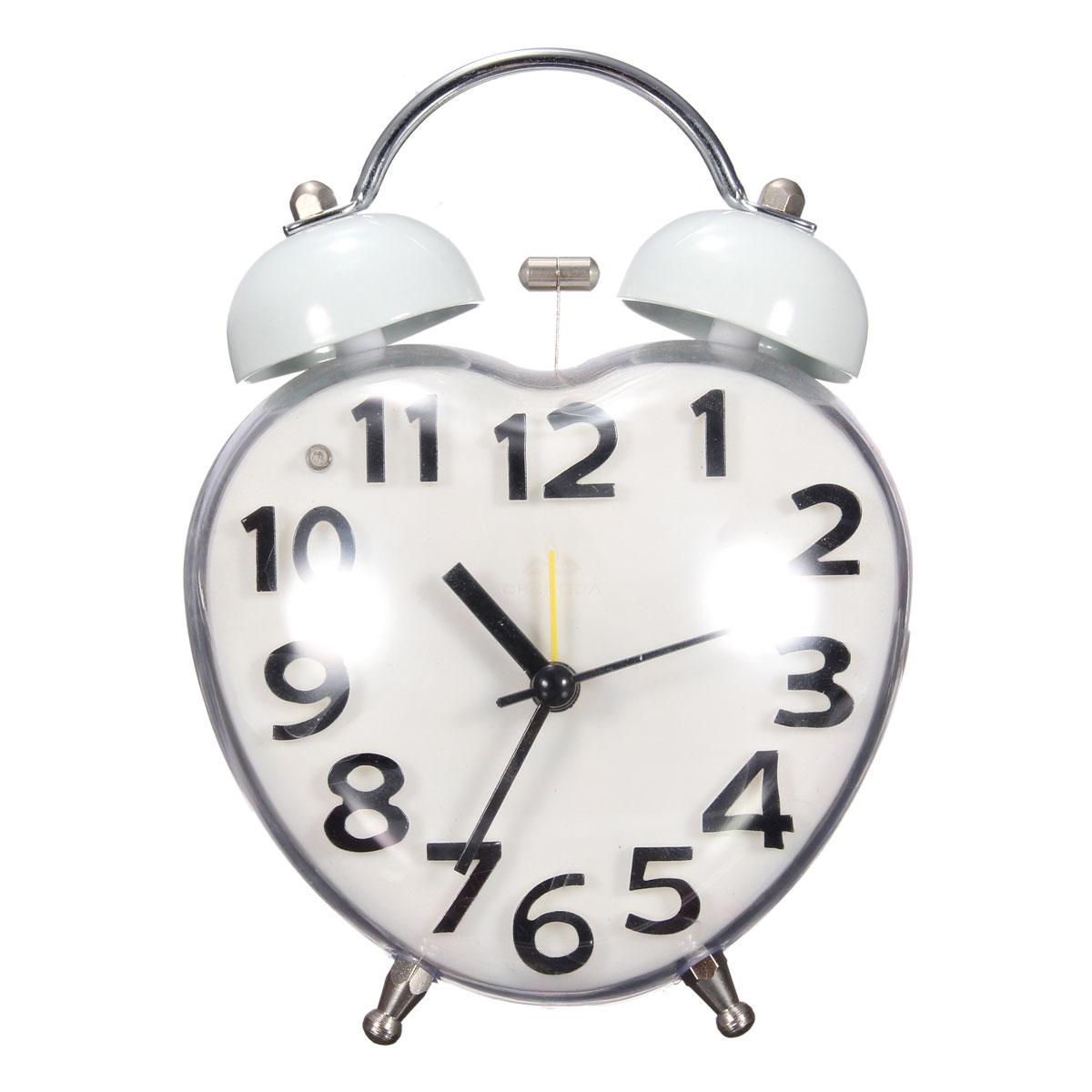 Double Bell Mute Alarm Clock Quartz Movement Night Light Home Bedroom Creativ