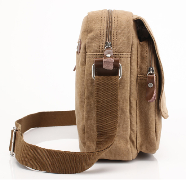 Men Canvas Outdoor Sport Casual Bag Messenger For IPad