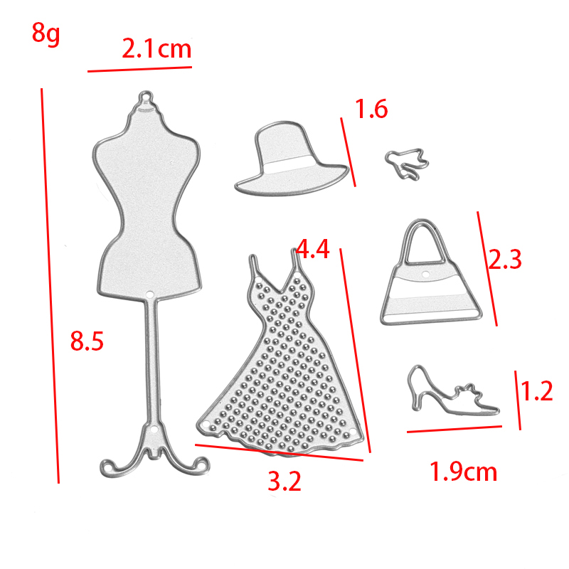 Checkroom Theme Clothes Tree Set Scrapbooking DIY Album Card Paper Craft Maker Metal Cutting Dies