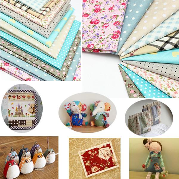 10pcs 25x25cm Floral Series Cotton Sewing Fabric Dolls Purse Handwork DIY Patchwork Cloths