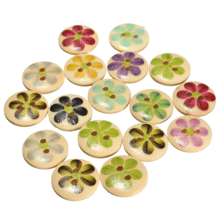 flower sewing buttons