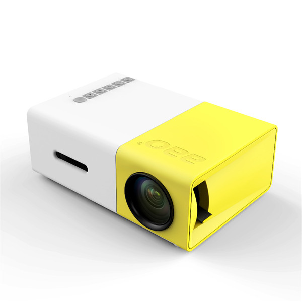 YG-300 LCD Mini Support 1080P Portable LED Projector