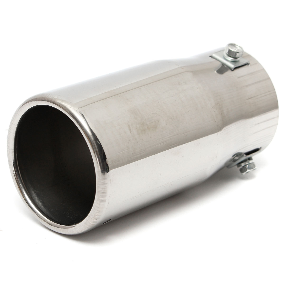 universal stainless steel car auto exhaust tail pipe tip. Black Bedroom Furniture Sets. Home Design Ideas