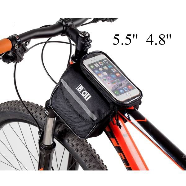Bicycle Touch Screen Tube Bag Bike Cycling Touch Screen Mobile Phone Bag Pannier Bag рамка aluminium на 4 поста алюминий черный wl11 frame 04 4690389110474