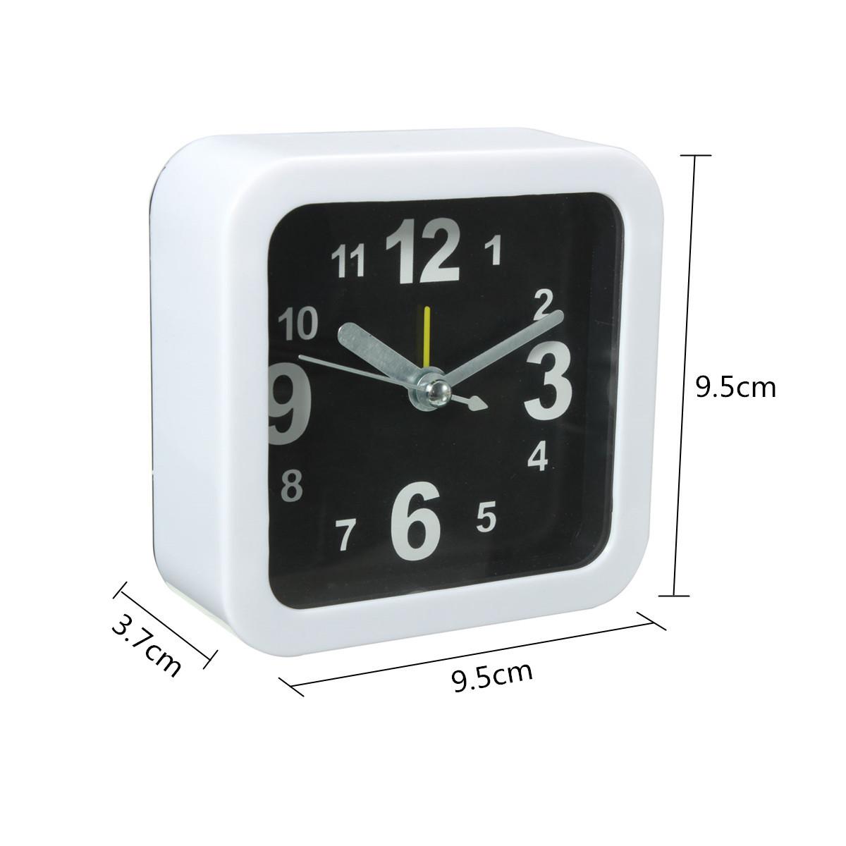 white mini travel alarm clocks quartz alarm beep bedside