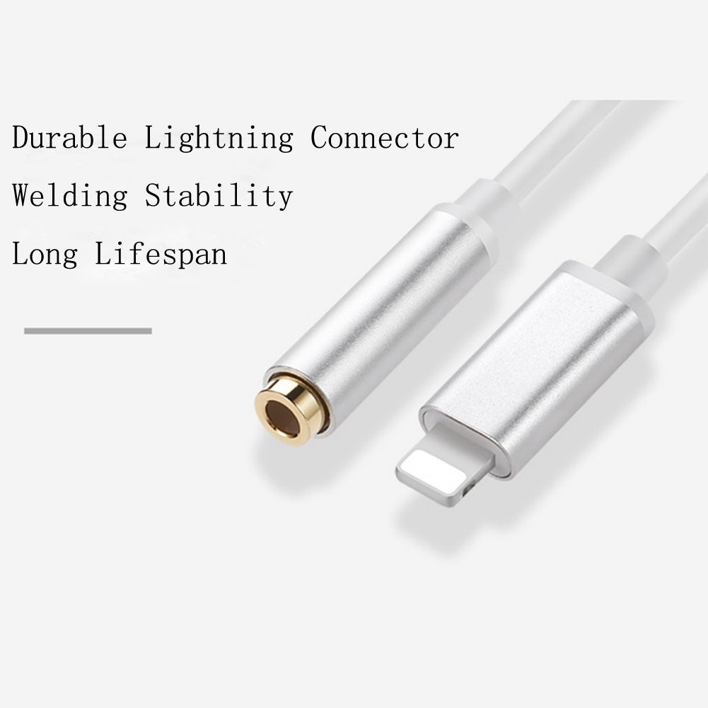 Hizek HZ-CB2 Lightning To 3.5mm Aluminum Alloy Shell Earphone Adapter Jack Cable For iPhone 7/7Plus