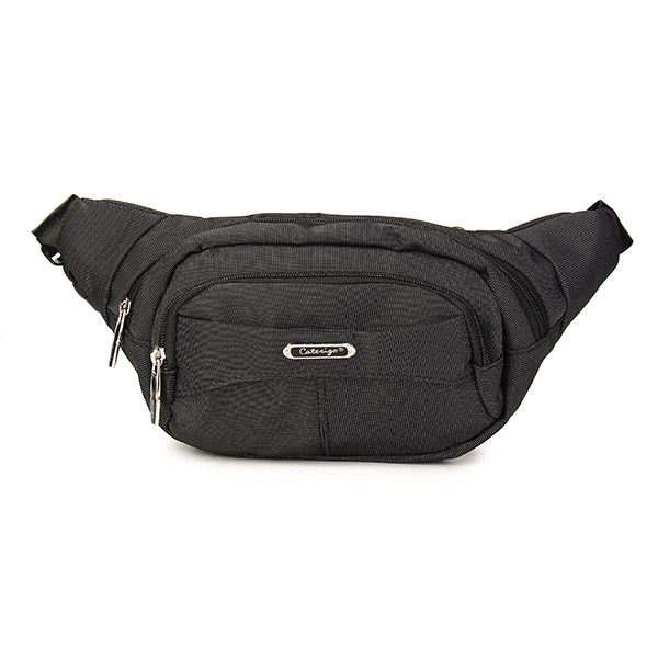 Men Nylon Oxford Small Black Coffeee Waist Bag