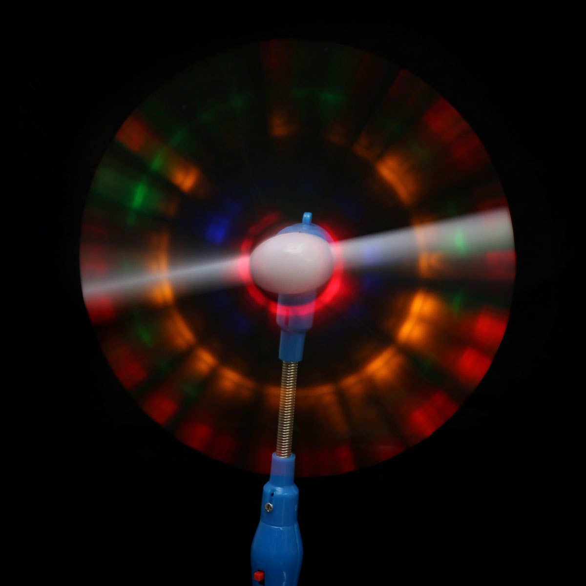 Led Lights Rainbow: Flashing Light Up LED Rainbow Spinning Windmill Glows Toy
