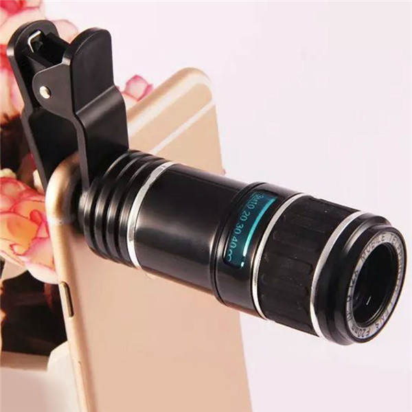 12X Universal Telephoto Lens Mobile Phone Optical Zoom Telescope Camera For iPhone Samsung universal 12x mobile telephoto lens w mini tripod for samsung htc nokia more black silver