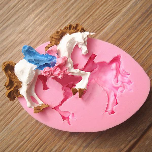 Cake Decorating Horse Mould : Moulds - Carousel Unicorn Horse Fondant Mold Silicone ...