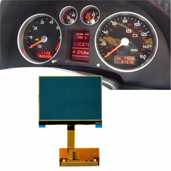 Clear Pixel LCD Display Screen For Audi TT 8N Series Jaeger габаритный фонарь iculed 2 cree 12v audi a4 2002 2005 a4 quattro 00 06