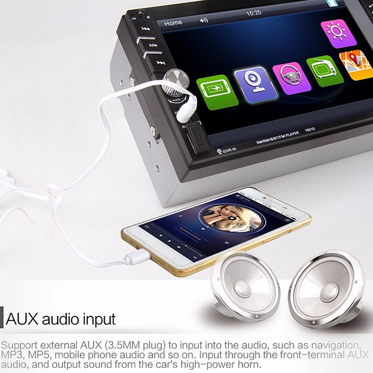 6 6 inch tft touch screen 2 din car mp5 player stereo radio with rear camera sale banggood com