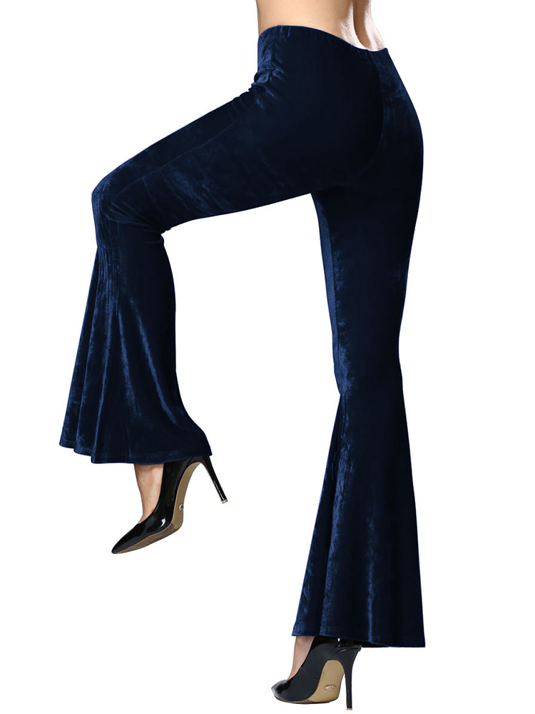 Fashion Women Bell Bottom Wide Leg Flared Long Pants