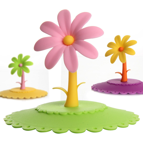 Colorful Flower Silicone Dustproof Cup Lid Leakproof Cup Cover от Banggood INT