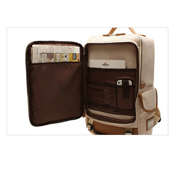 15inch Laptop Men Women Canvas Backpack Student Casual School Backpack