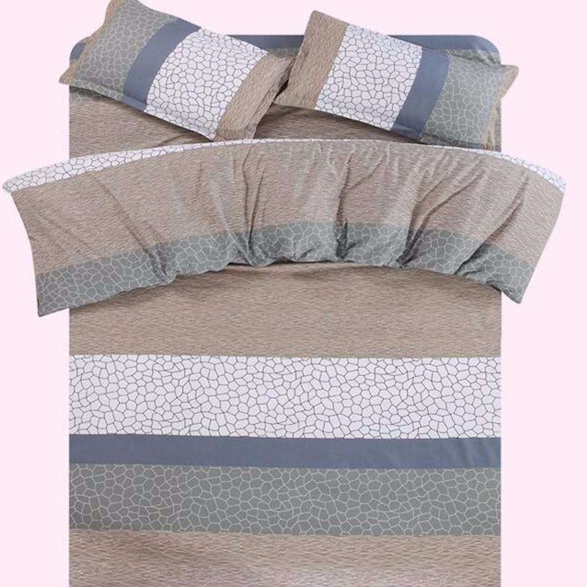 1.5m / 1.8m 4 ropa de cama del algodón de las PC de la fundación del edredón del edredón del lecho del algodón de la hoja plana elegent noble
