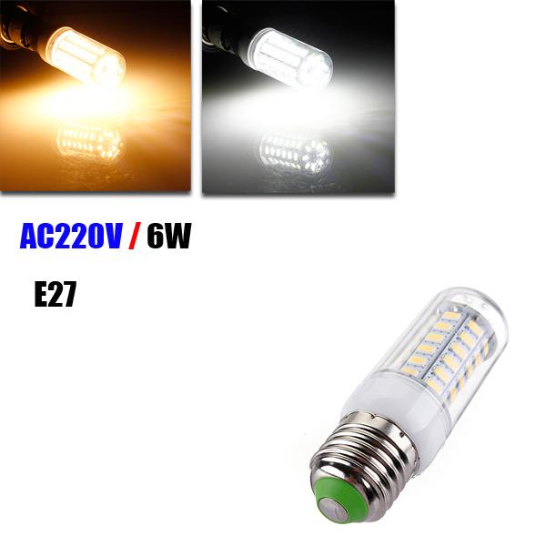 E27 6W LED Ultra Cover Corn Bulb AC220V