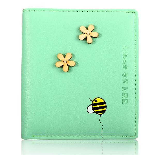 Women Cute Candy Color Flower Wallet Coin Purse Clutch Card Holder