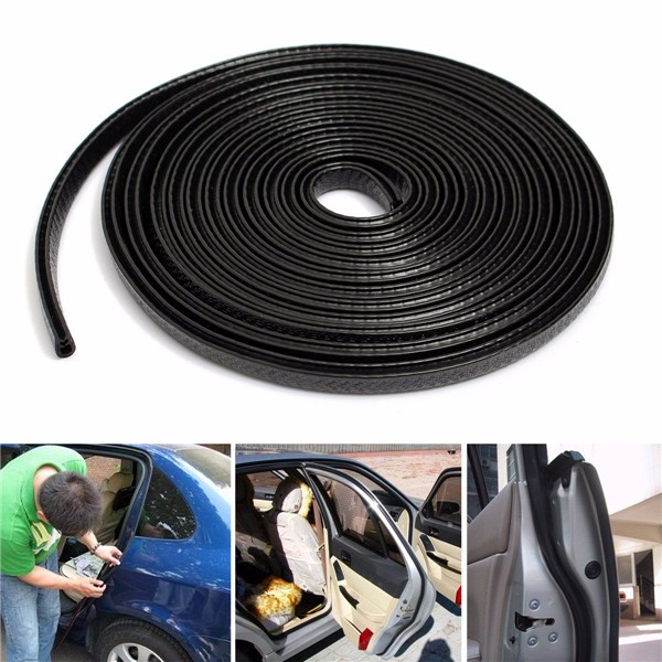 4M U Shape Edge Trim Rubber Seal Protector Guard Strip For Cars Metal Edges Boat 2 colors car styling protector side edge protection pad protected anti kick door mats cover for peugeot 3008 2014 2015 2016
