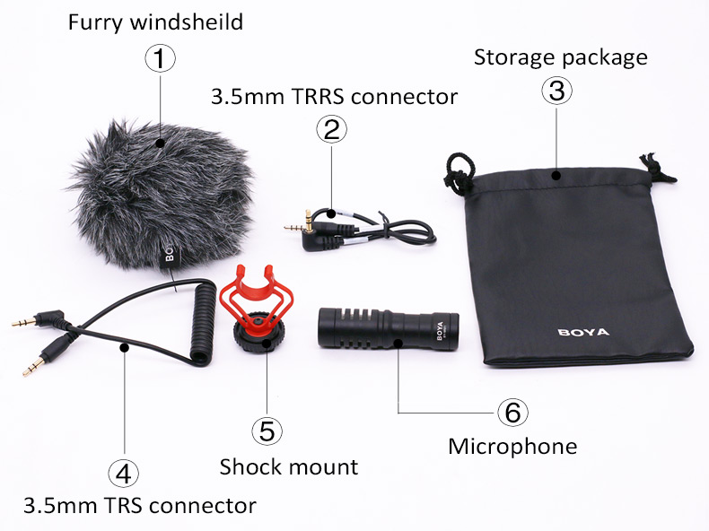 BOYA BY-MM1 Universal Cardioid On-Camera Video Microphone