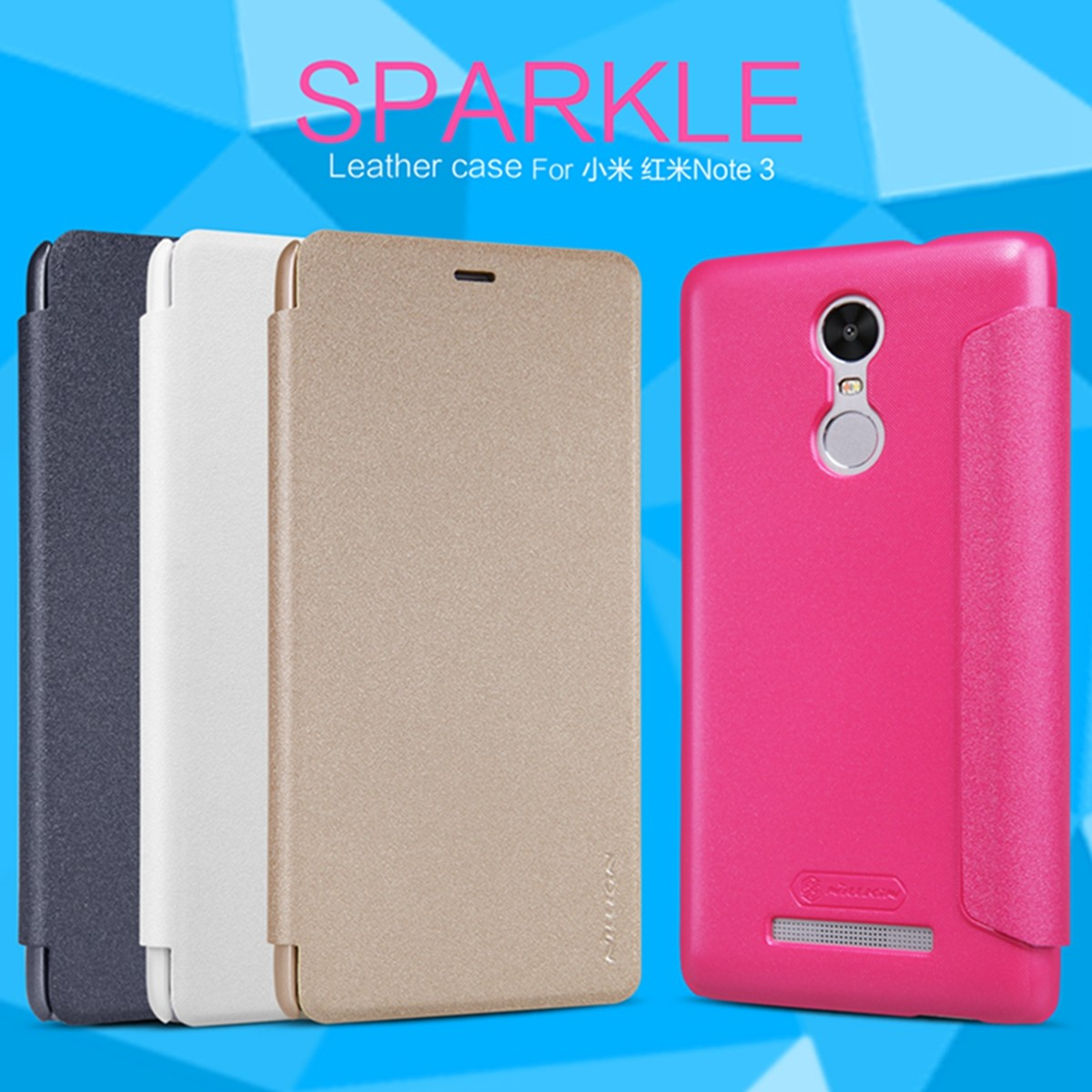 Nillkin Sparkle Flip Leather Case For Xiaomi Redmi Note 3