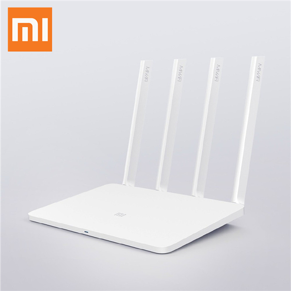 Original Xiaomi Mi WiFi 3 Router Smart Mini WiFi Repeater 4 Antennas 1167Mbps Dual Band 128MB Flash ROM Support iOS Android APP - White original xiaomi mi router pro wifi repeater 2533mbps 2 4g 5ghz dual band app control wifi wireless metal body mu mimo routers