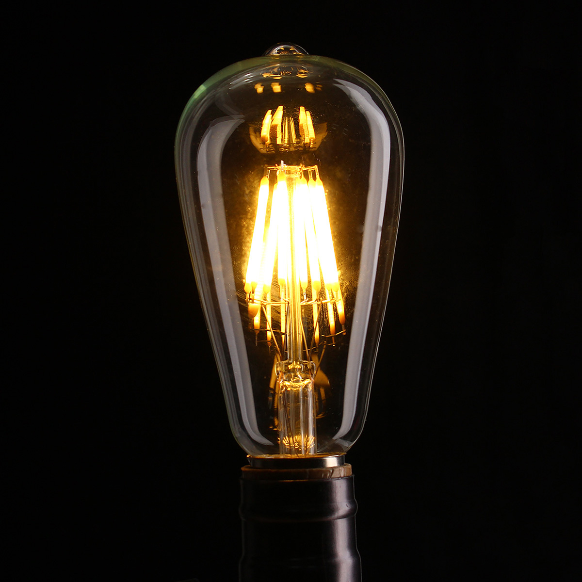 e27 st64 8w clair couvrir dimmable edison r tro vintage filament cob led ampoule lampe ac110. Black Bedroom Furniture Sets. Home Design Ideas