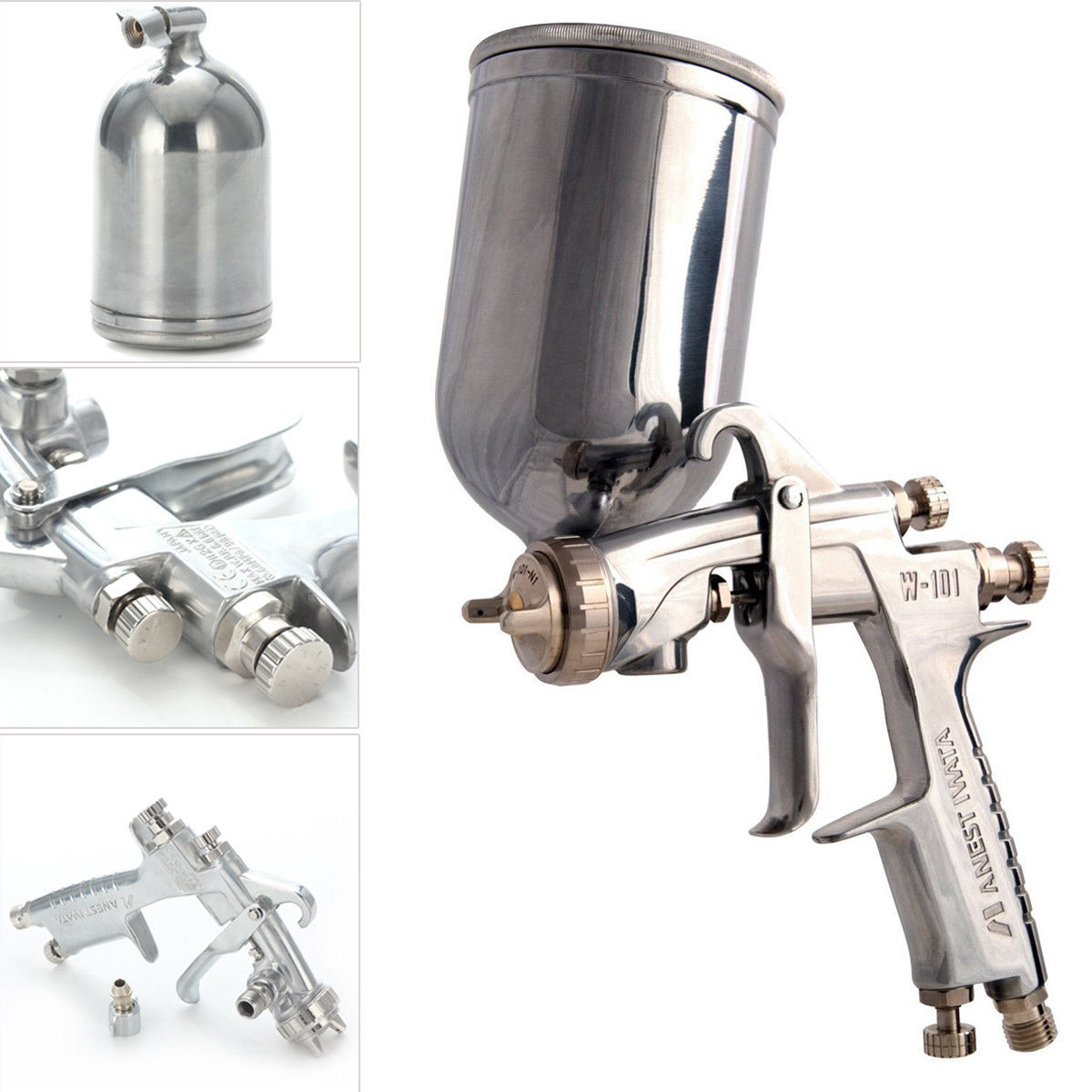 W-101 1.3mm HVLP Gravity Feed Paint Spray Gun With Cup T