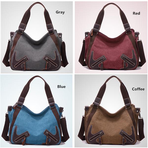 女性 Durable キャンバス Large Capactiy Handbag Casual Shoulder Bags Crossbody Bag