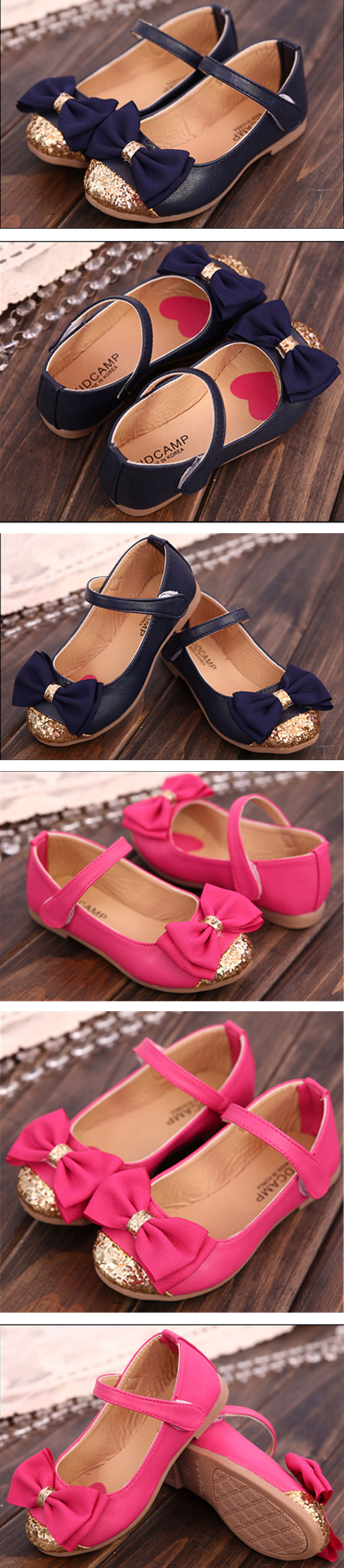 Toddler Baby Girl PU Leather Kids Mary Jane Flats Party Dancer Casual Art Bowknot Dress Flounce Princess Shoes