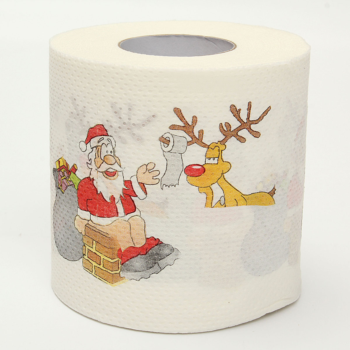 1 roll santa claus printed merry christmas toilet paper for Decoration toilette
