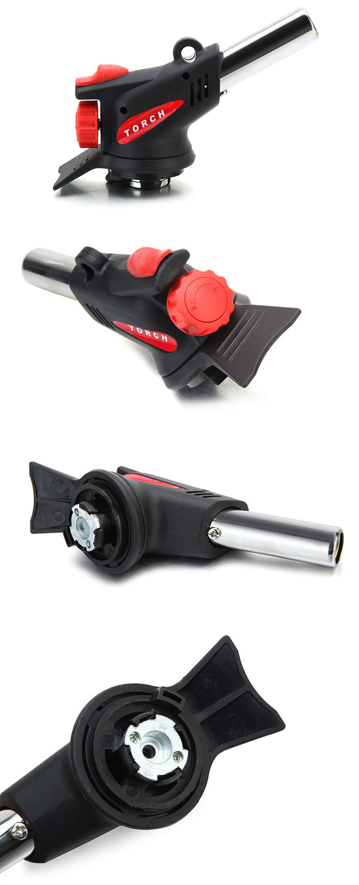 360 Degree Portable Gas Torch Flamethrower Burner Butane Gas Blow Outdoor Camping BBQ Baking Meat To