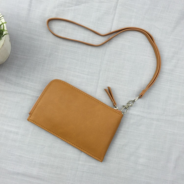 Women Casual Clutch Functional 電話 Wallet Hanging on Neck For i電話 Samsung 2 Straps