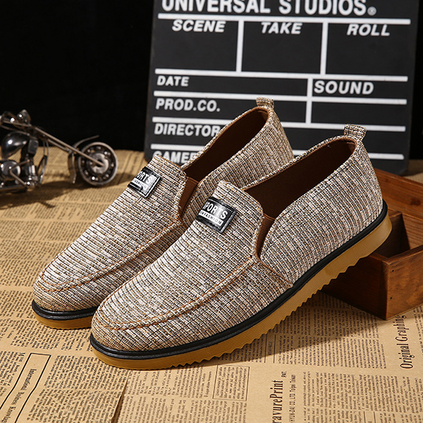 цены  Men Flats Sneakers Outdoor Slip On Causal Fashion Comfortable Canvas Low Top Shoes