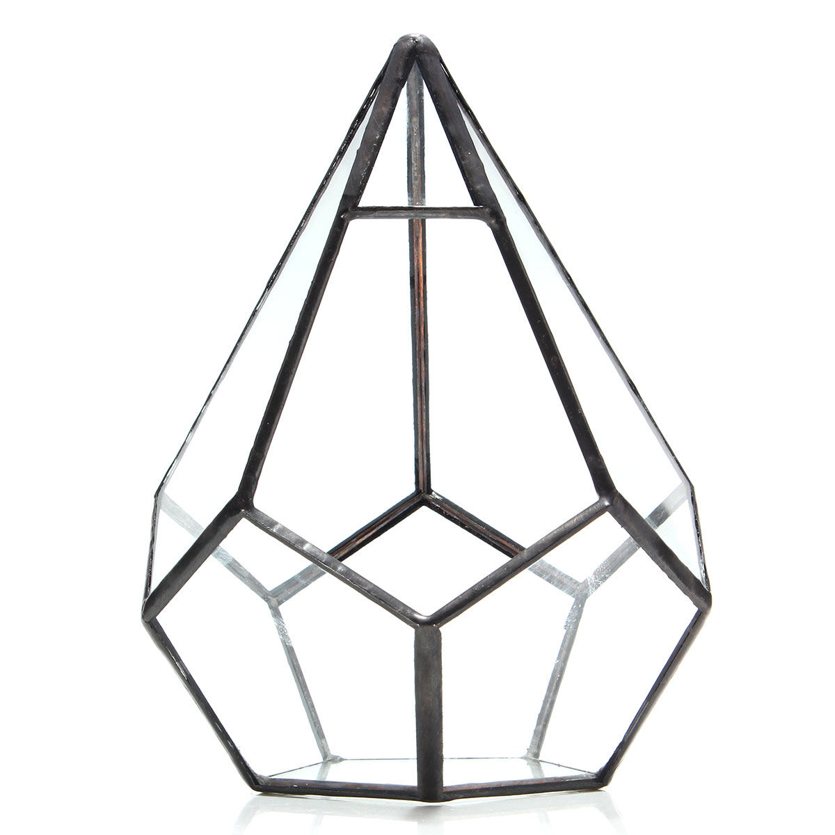Triangle Greenhouse Glass Terrarium DIY Micro Landscape Succulent Plants Flower Pot