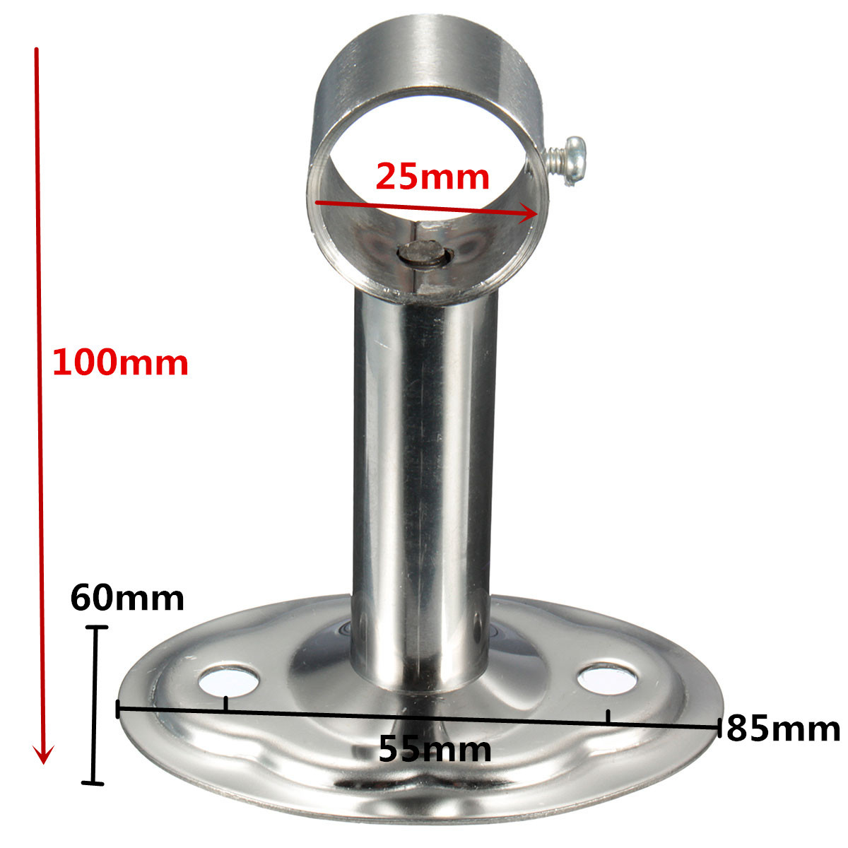 Inch stainless steel pipe support stand tall bracket