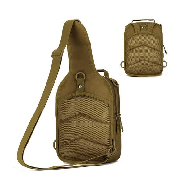 メンズ陸軍ミリタリーナイロン屋外スポーツランニングハイキングサイクリングトラベル10インチタブレットiPadのチェストバッグ