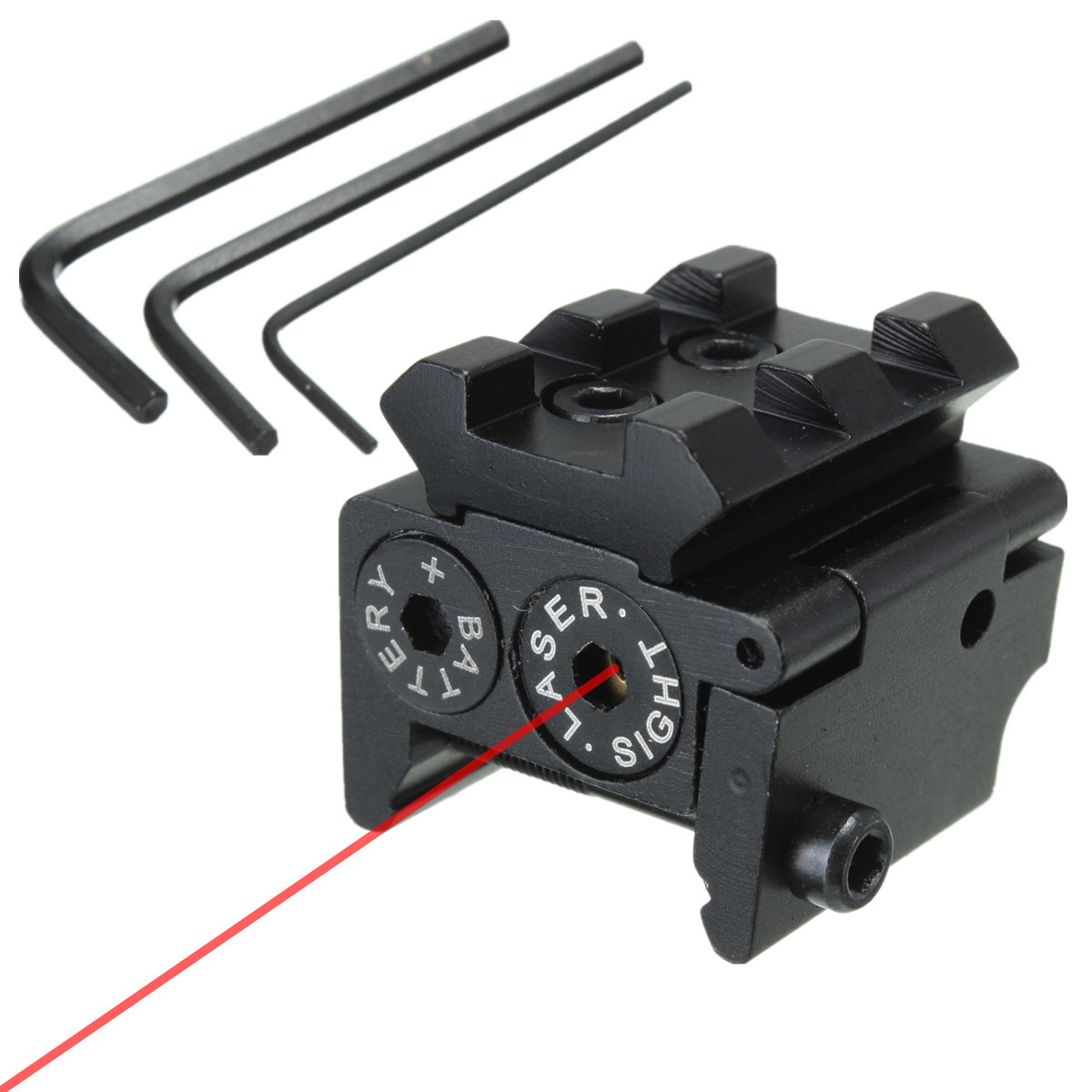 Mini Compact Tactical Red Dot Laser Bore Sight Scope With 20mm Picatinny Rail Mount