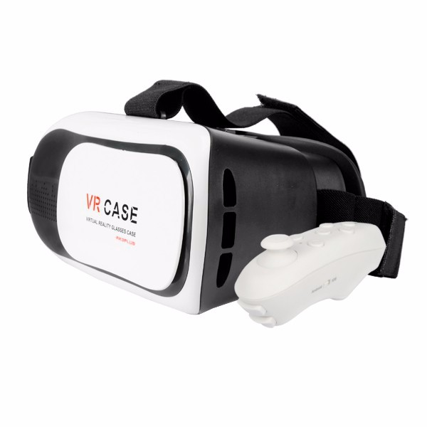 3D VR Virtual Reality Games Movies Glasses For 3.5-inch to 6.0-inch Smart Phone With Remote control
