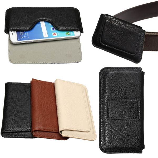 Buy Universal Waist Phone Pouch PU Leather Case For Samsung S5 S6 S7 5.1-inch Max