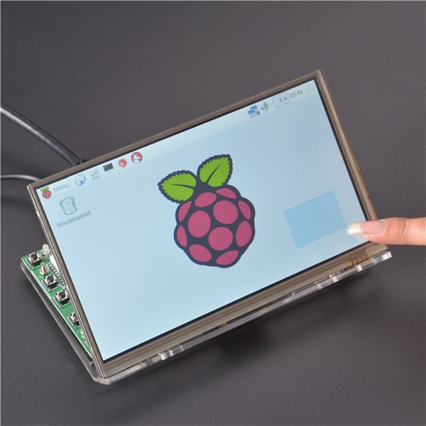 Raspberry Pi 7 inch HDMI HD 1024 * 600 Touch Screen Module Kit With Housing Bracket 9 inch car headrest mount dvd player digital multimedia player hdmi 800 x 480 lcd screen audio video usb speaker remote control