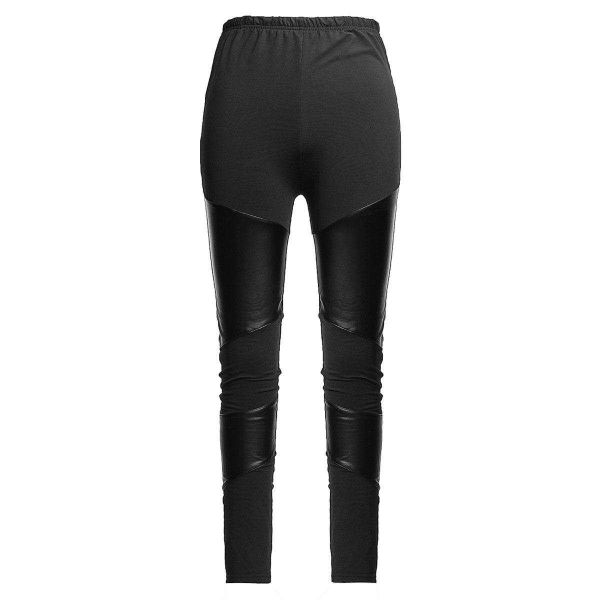 Zanzea Faux Leather Stretchy Shiny Tights Leggings