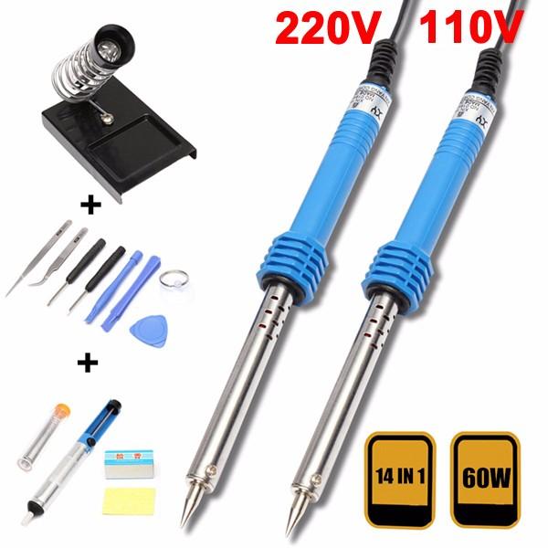 14 in1 110v / 220v 60w ес подключить электрический паяльник набор набор инструментов стартер