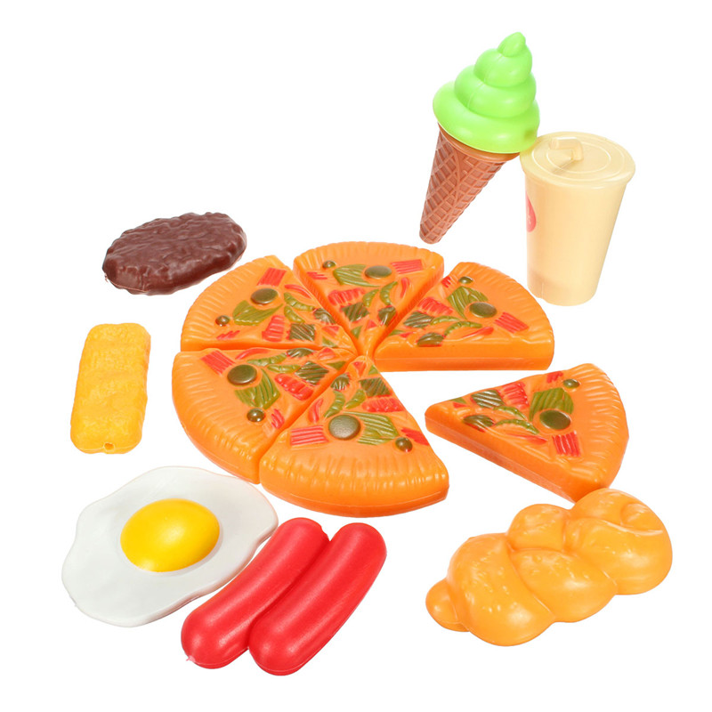 Toy Food For Toddlers : Pcs plastic pizza cola ice cream children kids pretend