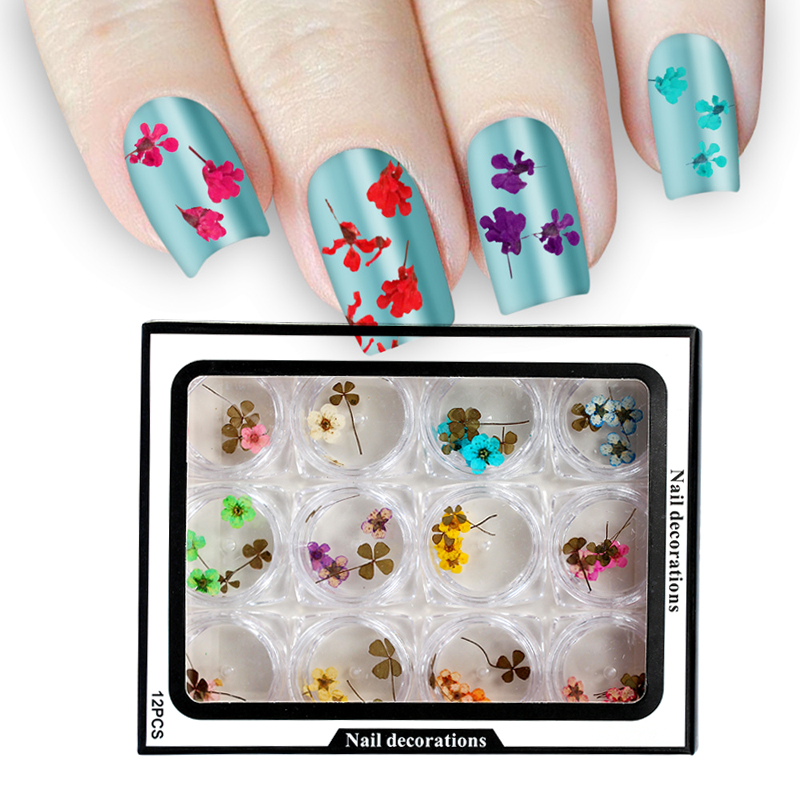 New Nail Art Decoration 3D Dry Dried Flowers