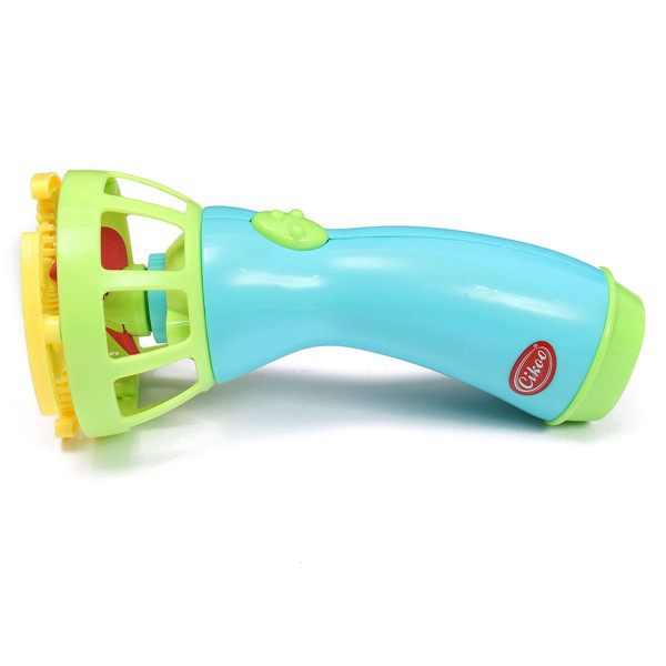 Electric Bubble Machine Fan Blowing Bubble Gun Kids Playing Game Toy - Photo: 4