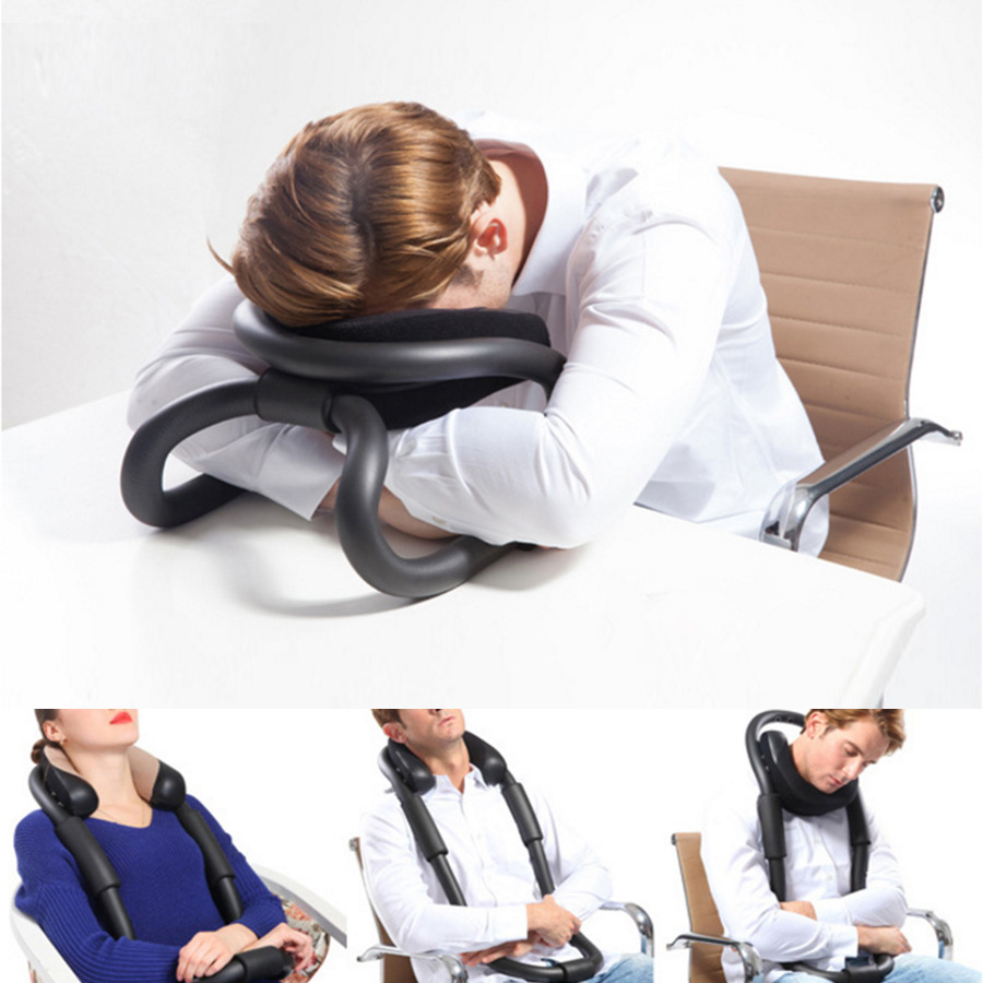 Buy IdeaShow Black Neck Protecting U-shaped Pillow Airplane Car Office Nap Travel