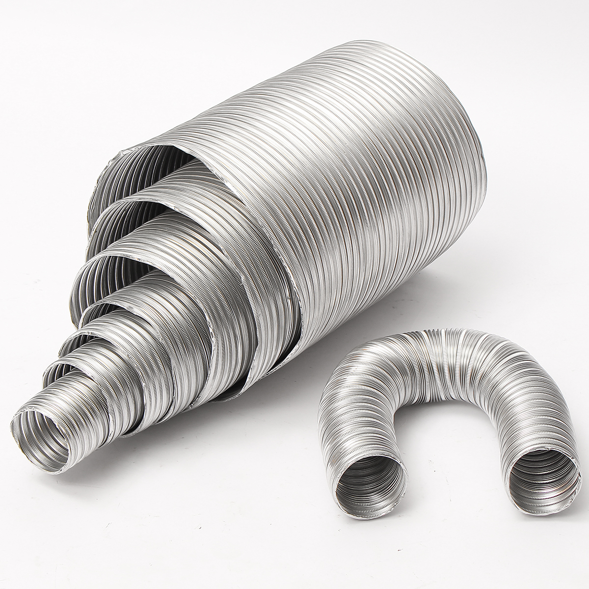 Aluminum flexible m length exhaust air vent pipe duct